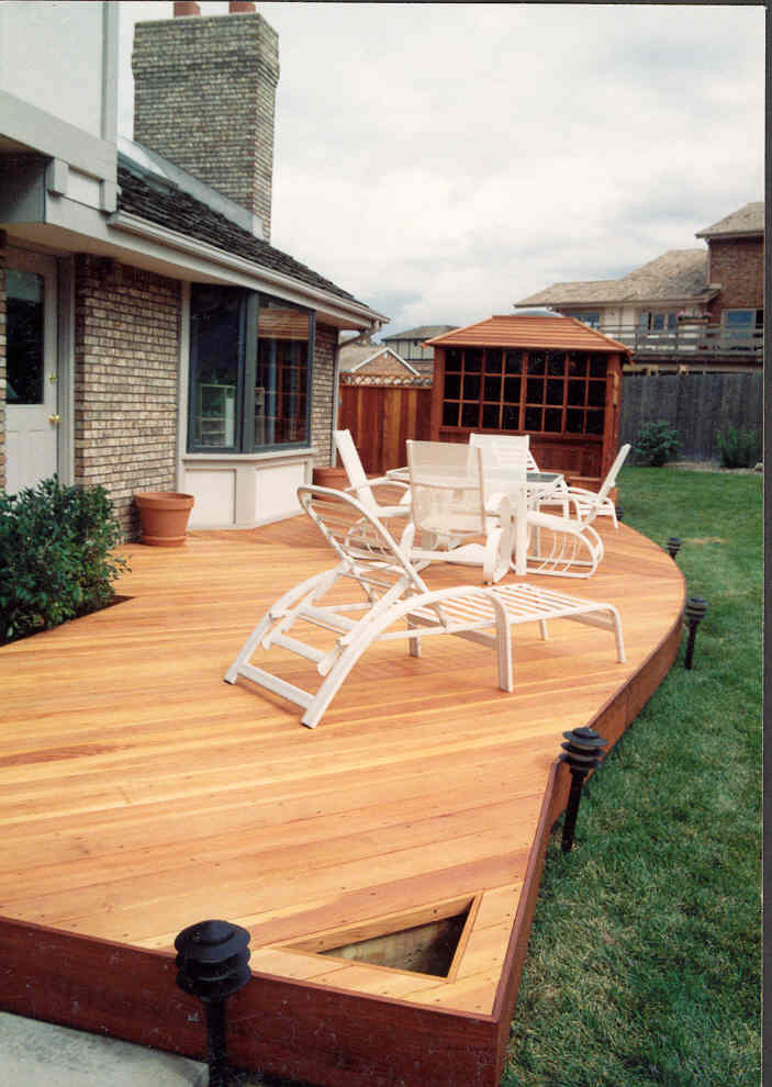Unusual redwood deck diablo timber for Redwood vs composite decking